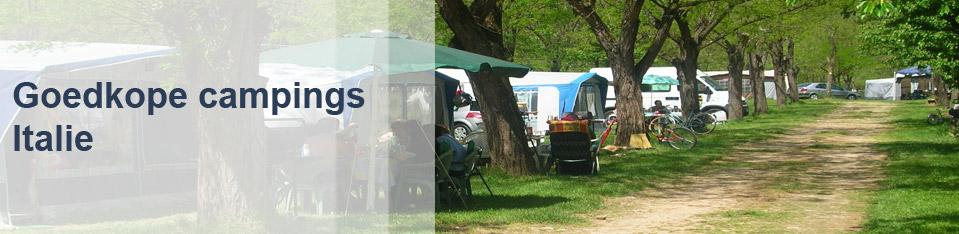 Goedkope campings Italie